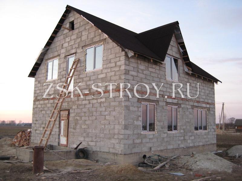 Как построить двухэтажный дом из пеноблоков своими руками