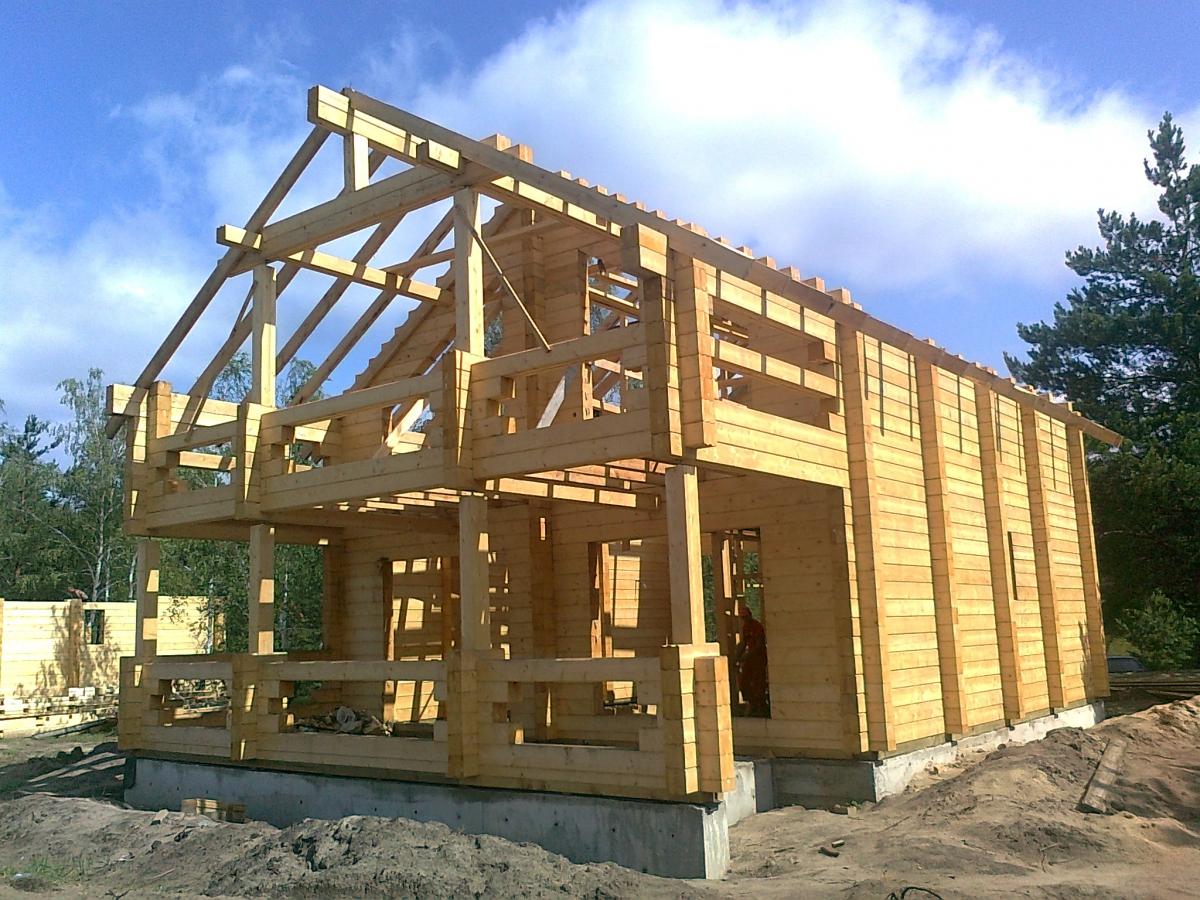 Строительство дома своими руками под ключ из бруса 32